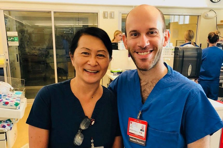 After almost 30 years, Ms Vilma Wong, 54, reunited with Dr Brandon Seminatore, 28, at the very hospital where it all started, and where they are now colleagues.