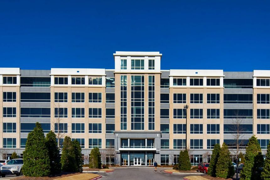 An office property in Raleigh, one of 33 assets in the US acquired by Ascendas-Singbridge Group.