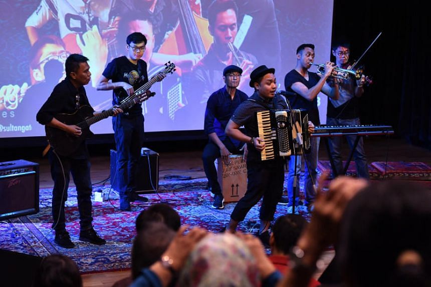 Local Bohemian band The Lost Hat performing during the Sultangate music festival, which kicked off its second edition on Sept 7, 2018.