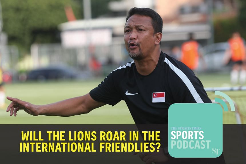 Fandi Ahmad in training with the Singapore Lions
