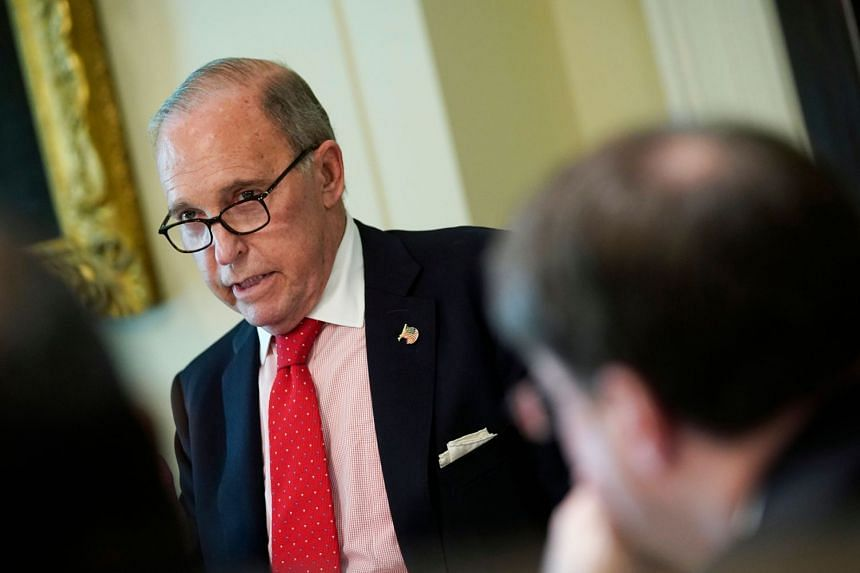 """Kudlow (above) said China would find itself """"more isolated"""" if it resisted opening its markets."""