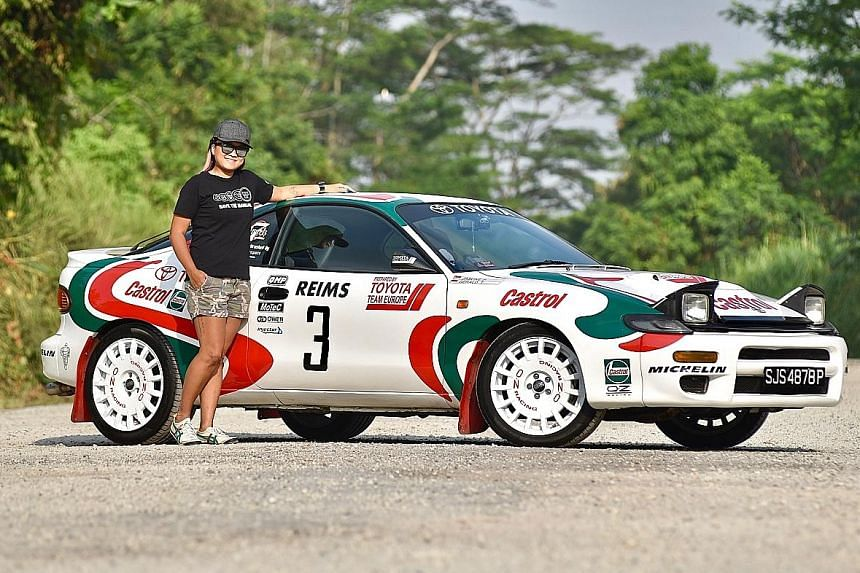 Ms Jasline Pan paid $24,000 for the Toyota Celica GT-Four Carlos Sainz, which is one of 25 imported into Singapore.