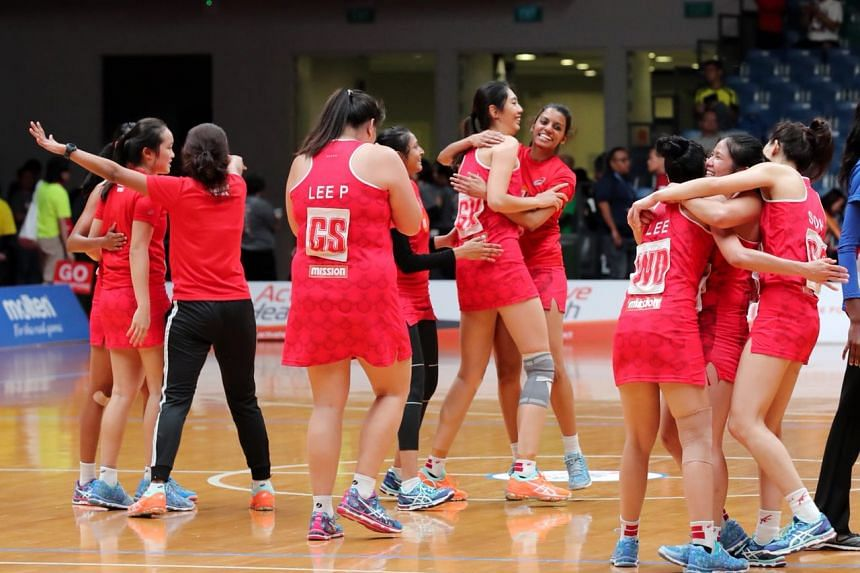 Singapore's netballers beat Malaysia 51-43 at the OCBC Arena on Sept 8, 2018, to seal their spot in the final.