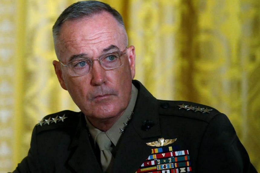 Marine General Joseph Dunford said no decision had been made by the United States to employ military force in response to a chemical attack in Syria.