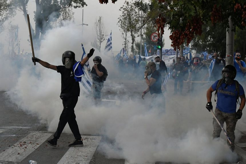 Greek Police Fire Teargas During Protests Over Macedonia Name Deal