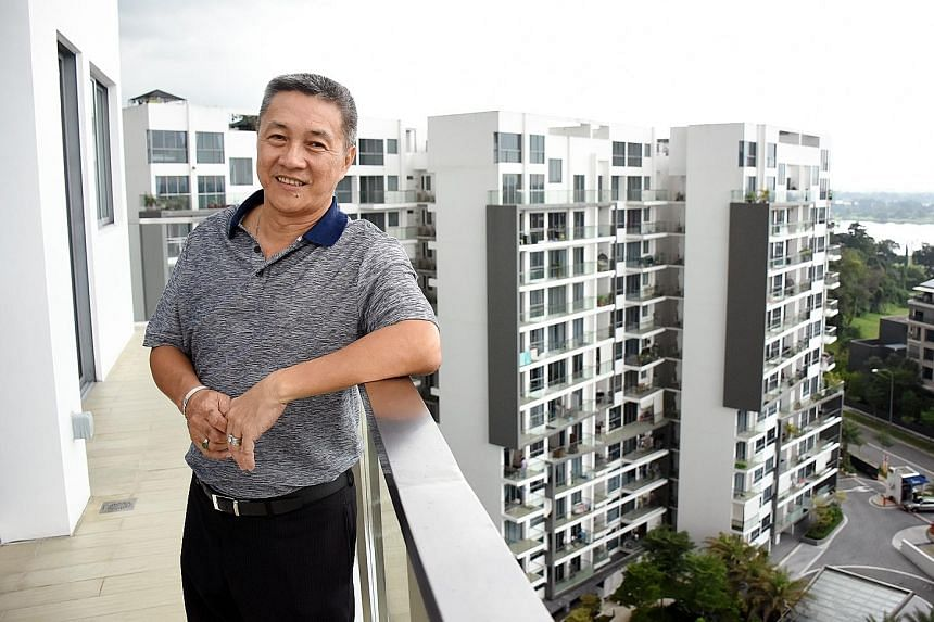 The Orchid Country Club, Seletar Country Club and Seletar Reservoir are visible from Mr Lim's penthouse, as well as the view of an almost unobstructed skyline.