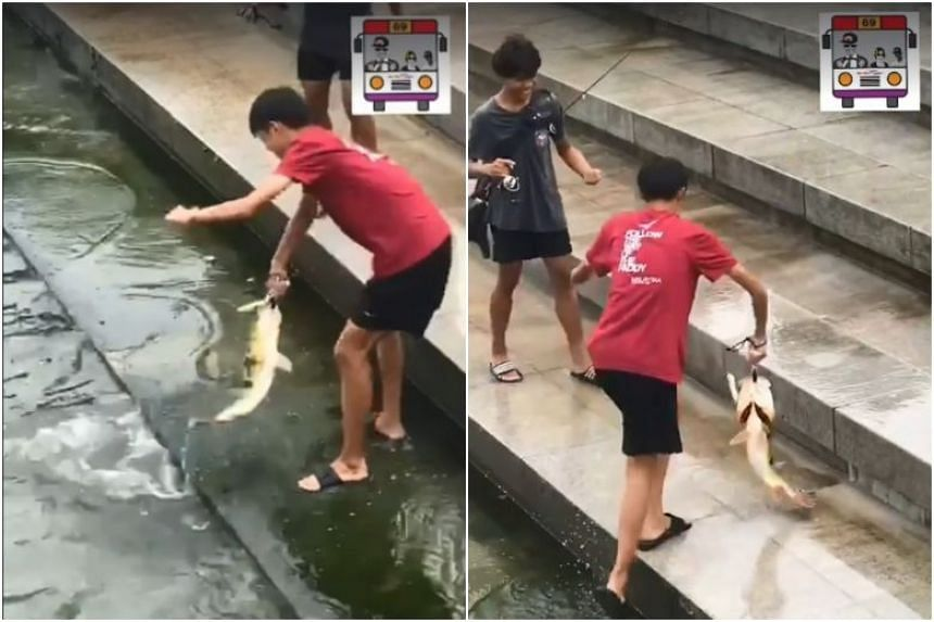 The two boys who were filmed fishing at Merlion Park have already been advised and counselled by their school, said the PUB.