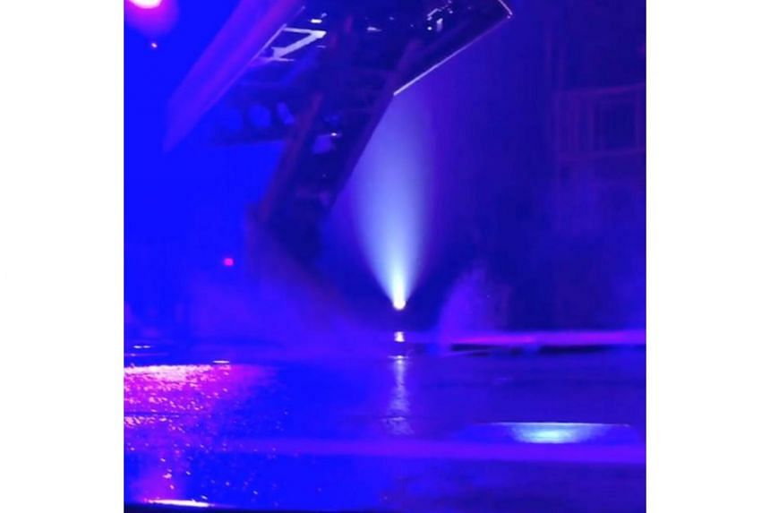 A mechanical issue at a staging of Cirque du Soleil's Volta in Washington had caused a hose to break loose in the hydraulics of the stage, spraying vegetable oil everywhere.