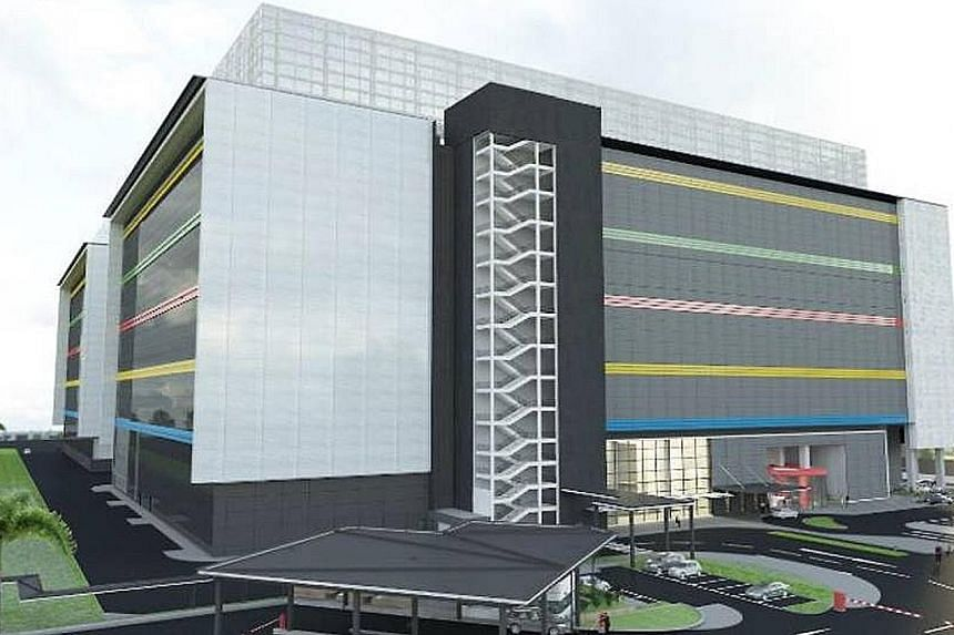 An artist's impression of the new Google data centre in Jurong West - the tech company's third one in Singapore. Last Thursday, Facebook said it will build a $1.4 billion data centre in Singapore - its first in Asia and 15th in the world - which will