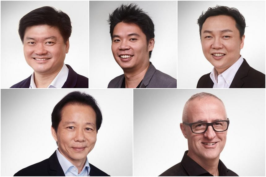 (Clockwise from top left) Mr Von Lee Yong Miang, Mr Jeffrey Tiong, Mr Cheong Chia Chou, Mr Laurent Junique and Mr Christopher Ng.