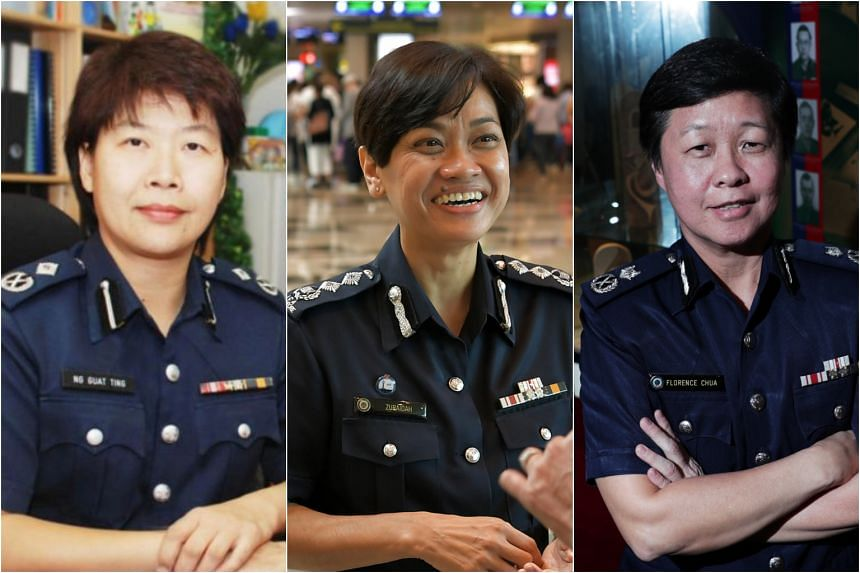 (From left) Assistant Commissioner Ng Guat Ting, Senior Assistant Commissioner of Police (SAC) Zuraidah Abdullah and CID director Florence Chua.