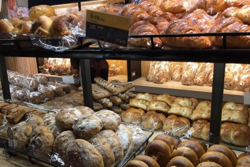 A display of breads at Wu Pao Chun bakery at Eslite Spectrum in Taipei.