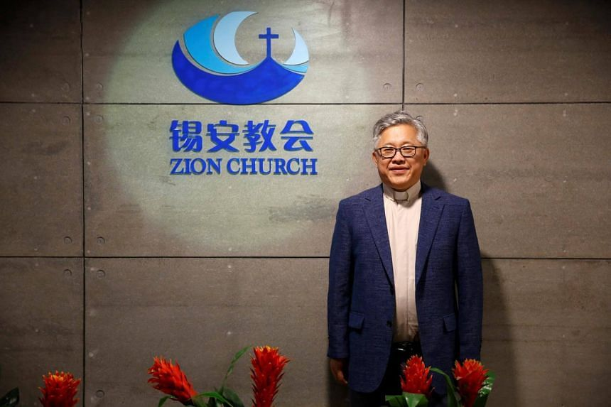 Jin Mingri, head pastor of the Zion church in Beijing. Local authorities said that by organising events without registering, the church was breaking rules forbidding mass gatherings.