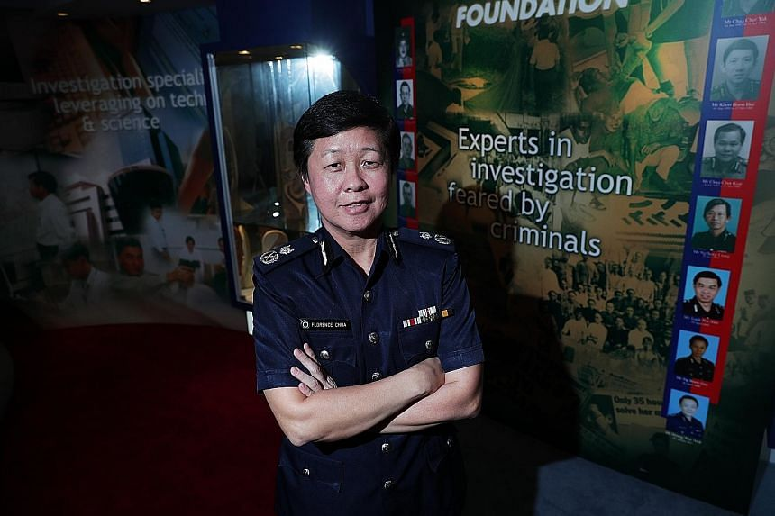 The Criminal Investigation Department's new director Florence Chua says she wants the department's officers to make use of technology to streamline investigation processes and predict the likelihood of crime in certain areas, to allow officers to wor