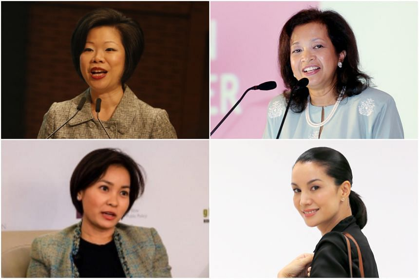 Among the speakers will be (clockwise from top left) Senior Minister of State for Communications and Information and Culture, Community and Youth Sim Ann, Malaysian writer Marina Mahathir, Indonesian model and actress Nadya Hutagalung and the Nationa
