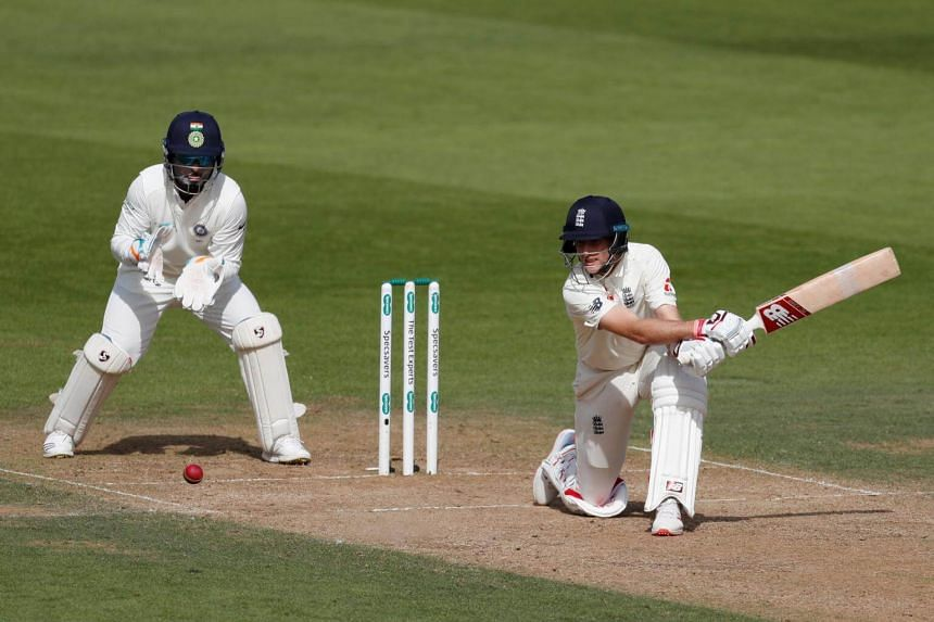 England's Joe Root in action during the fourth day of the fifth Test cricket match between England and India at The Oval in London, on Sept 10, 2018.