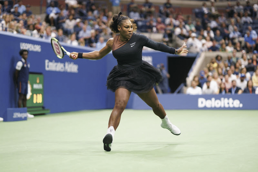 """In the midst of losing the final at the US open, Serena Williams had smashed her racquet and called the umpire a """"thief"""" and a """"liar""""."""