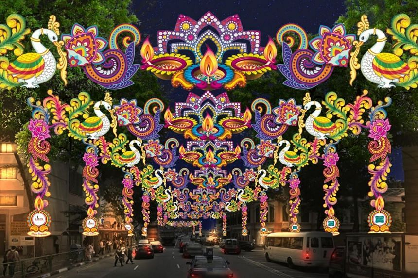 An artist's impression of this year's Deepavali light up.