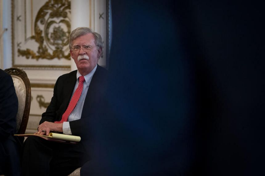 National Security Advisor John Bolton at Mar-a-Lago in Palm Beach, on April 17, 2018.