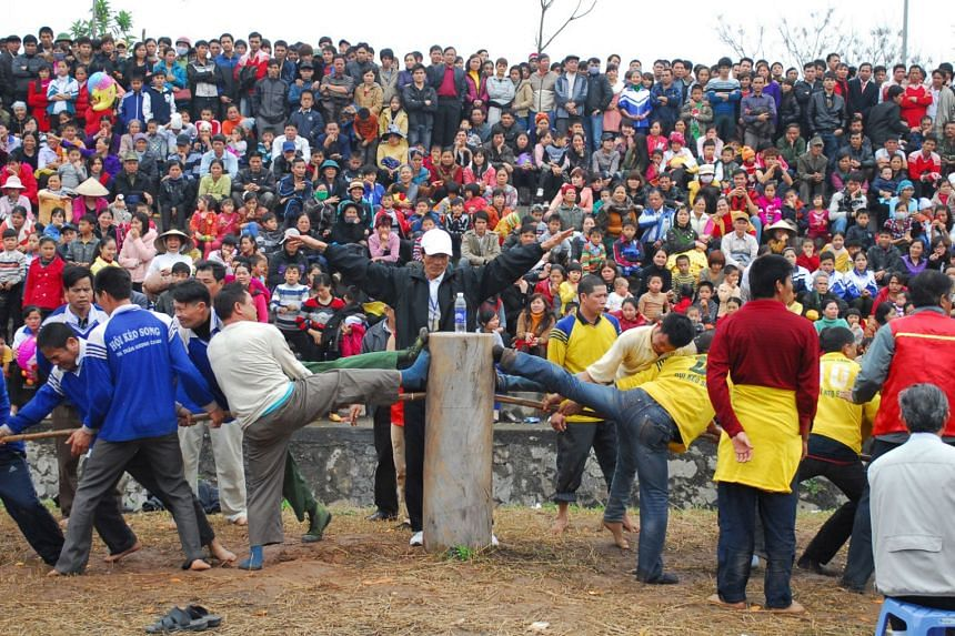 Tugging rituals and games in Vietnam. The entry was inscribed in 2015, and is also shared by the Philippines, Cambodia and South Korea.