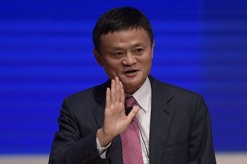 Alibaba co-founder Jack Ma (left), who will step down as chairman on Sept 10 next year, is handing over the reins to CEO Daniel Zhang (above).