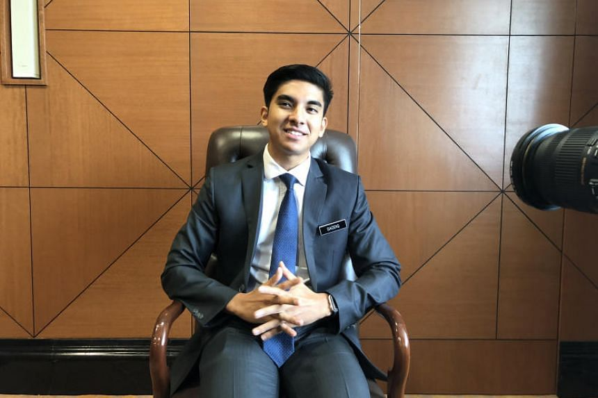 Malaysia's 25-year-old youth and sports minister Syed Saddiq Syed Abdul Rahman spoke at the World Economic Forum on Asean's first plenary session in Hanoi on Sept 11, 2018.