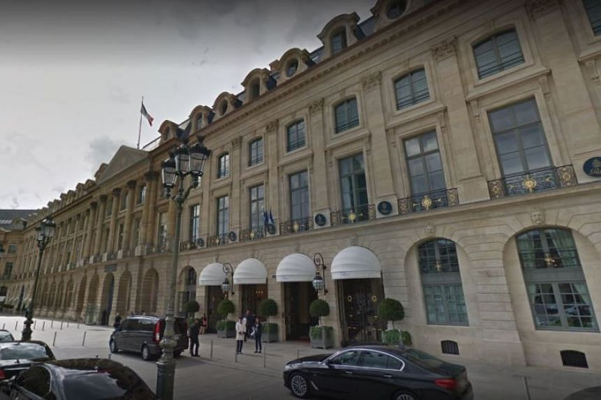The luxury Ritz hotel on the Place Vendome in Paris.