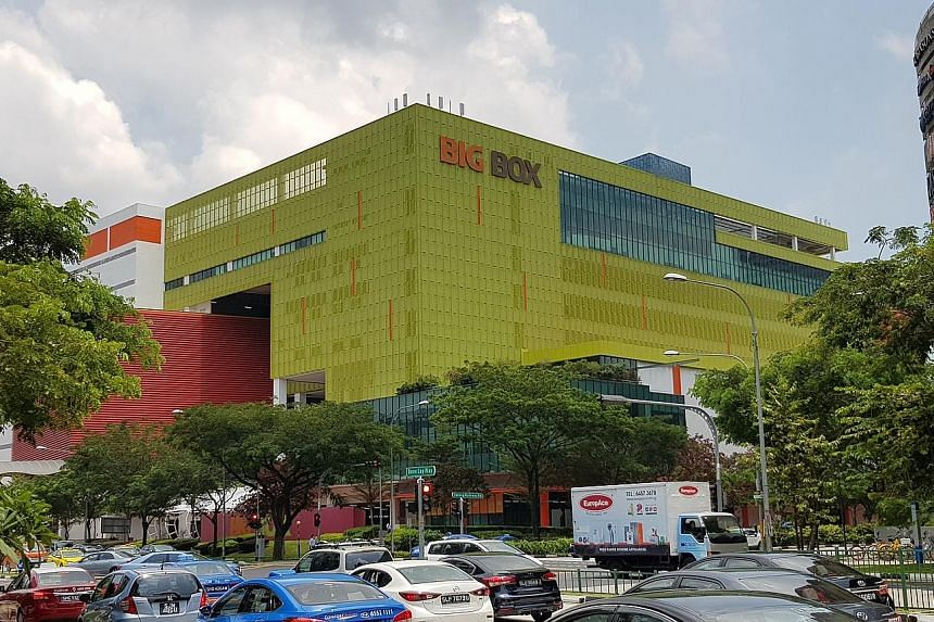The Big Box building is an eight-storey warehouse mall in Jurong East Regional Centre owned by Big Box, a 51 per cent subsidiary of struggling mainboard-listed consumer electronics retailer TT International.