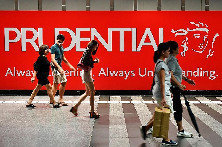 For the first six months of the year, Prudential's Singapore operation saw an 8 per cent rise in annual premium equivalent or a measure of new business activity, to £205 million (S$367 million) on a constant currency exchange basis.