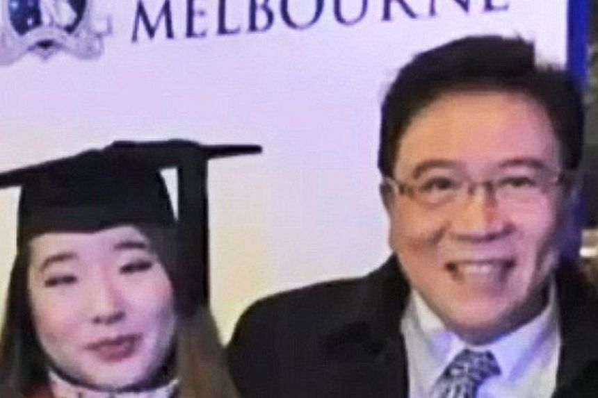 Ms Chen's body was found stuffed inside a suitcase partly submerged in Perth's Swan River on July 2, 2016. During the trial, her former husband and daughter blamed each other for the murder. Tiffany Wan, seen here with her father Ban Ah Ping, was con