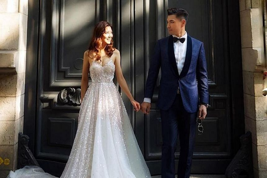 Groom-to-be and actor Ruco Chan is set to marry budding actress Phoebe Sin (both above).
