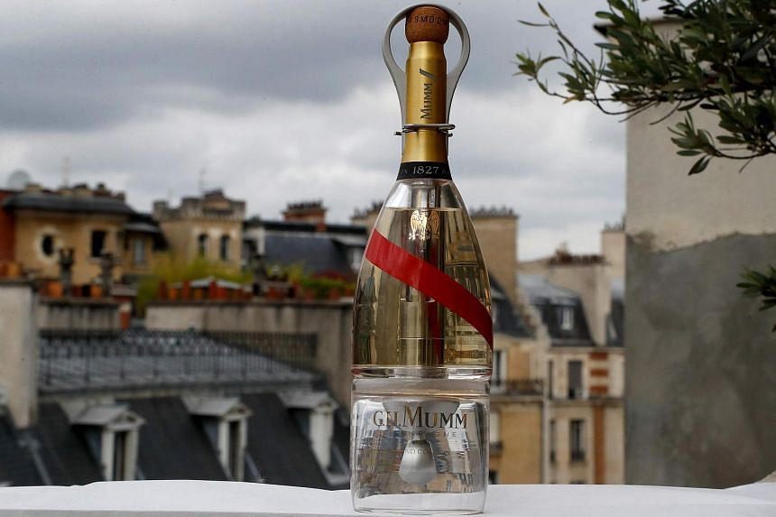The Mumm champagne house teamed up with designer Octave de Gaulle, who has specialised in conceiving of everyday objects for the final frontier, to develop the space-age bottles.