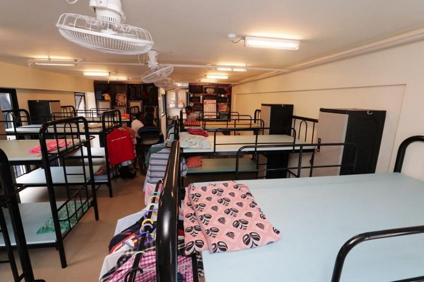 One of the dormitories in the Greyform Building. With the new application, foreign workers living in dormitories can now provide feedback by uploading photos, and alert their dormitory operators and MOM of the issues that they face.