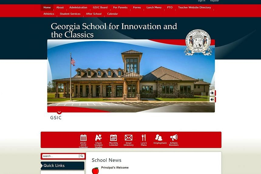 The website of Georgia School of Innovation and the Classics, which will be paddling students as a form of corporal punishment.