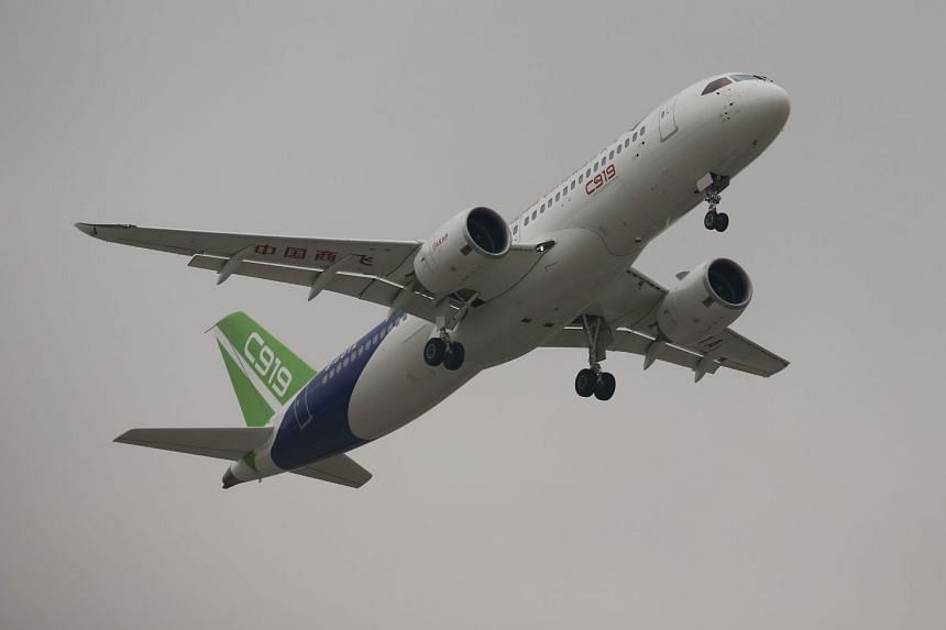 State planemaker Commercial Aircraft Corp of China (said its C919 single-aisle jet, which took its first flight in May 2018, will not appear at the show.
