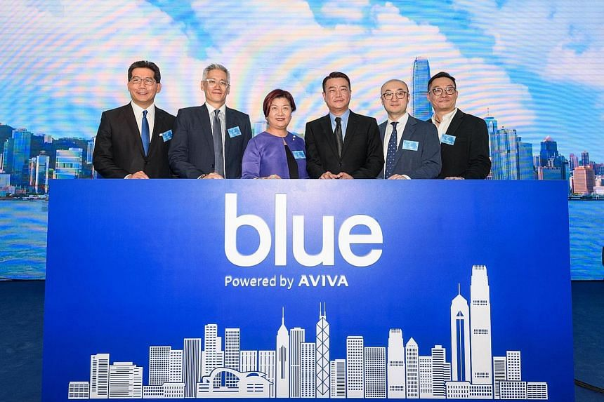 From left: Mr Greg So, independent non-executive director of Blue; Mr Chris Wei, global chairman of Aviva Digital; Ms Carol Hui, executive director, Long Term Business Division of the Insurance Authority; Mr Charles Hung, CEO of Blue; Mr Jie Liu, par