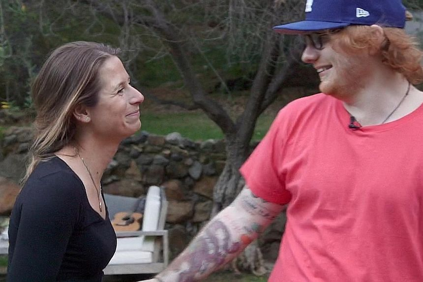 Ed Sheeran and his fiancee Cherry Seaborn in documentary Songwriter.