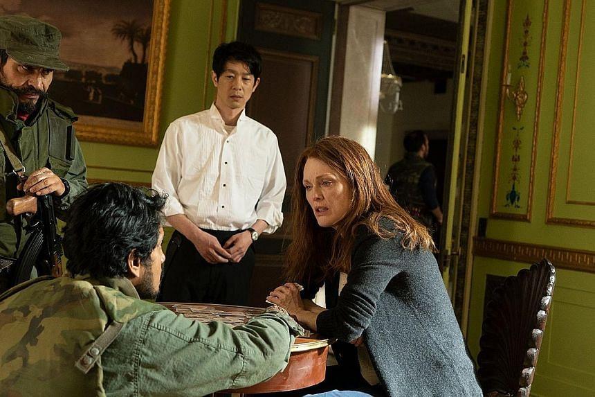 Julianne Moore stars in Bel Canto as a soprano taken hostage by rebels in South America.