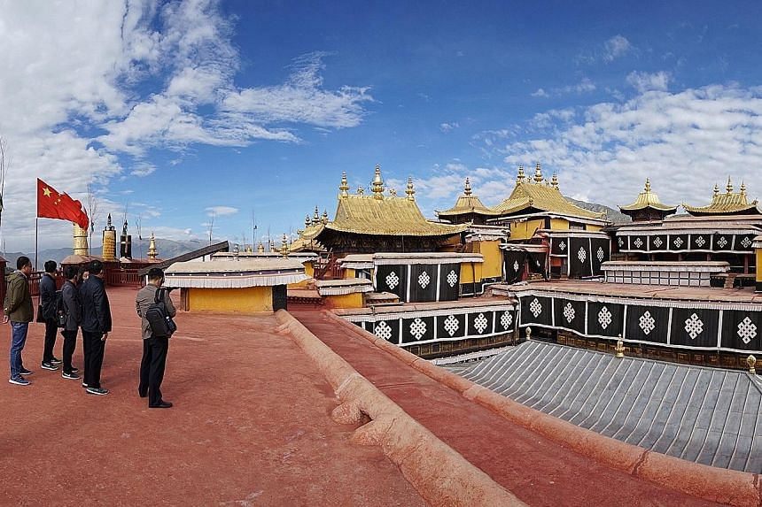 Tourists enjoying the attractions in Lhasa, Tibet. Some 20 million tourists visited Tibet in 2015 and the authorities expect 30 million tourists this year. Some of the ideas being considered by the Chinese government to attract more tourists to Tibet