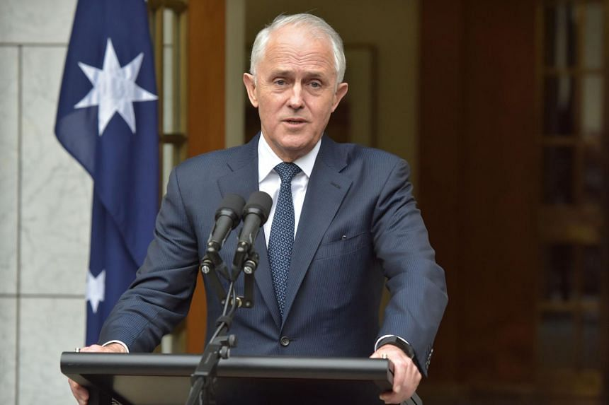 Australia's former prime minister Malcolm Turnbull speaks at a press conference at Parliament House in Canberra, on Aug 23, 2018.