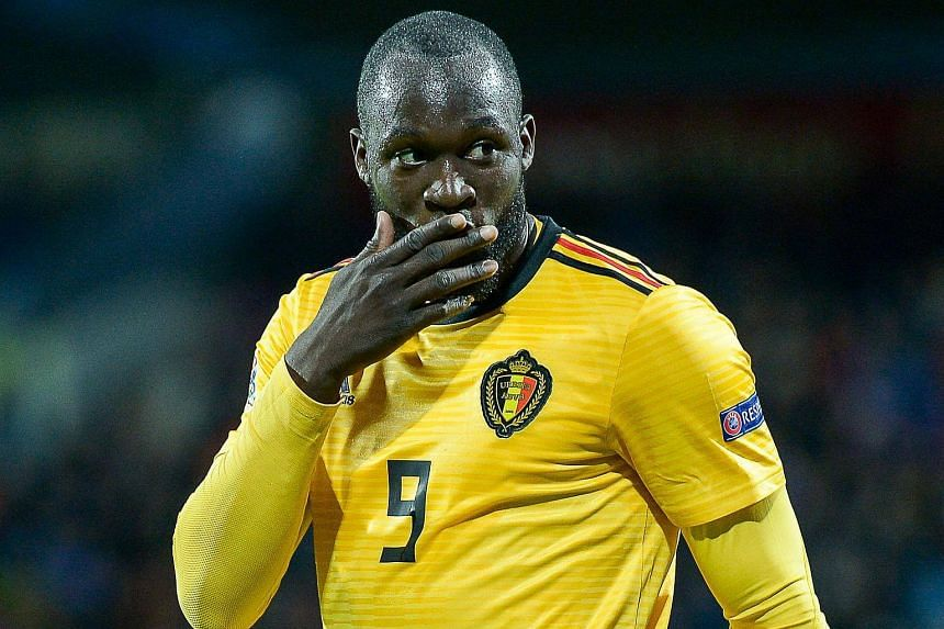 Belgium's Romelu Lukaku was brought down by a clumsy tackle.