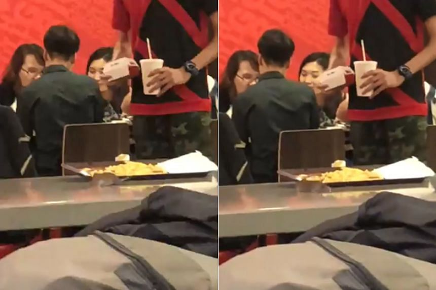 In a video posted to Twitter, the rat can be seen moving frantically on a table beside a tray of what appears to be french fries.