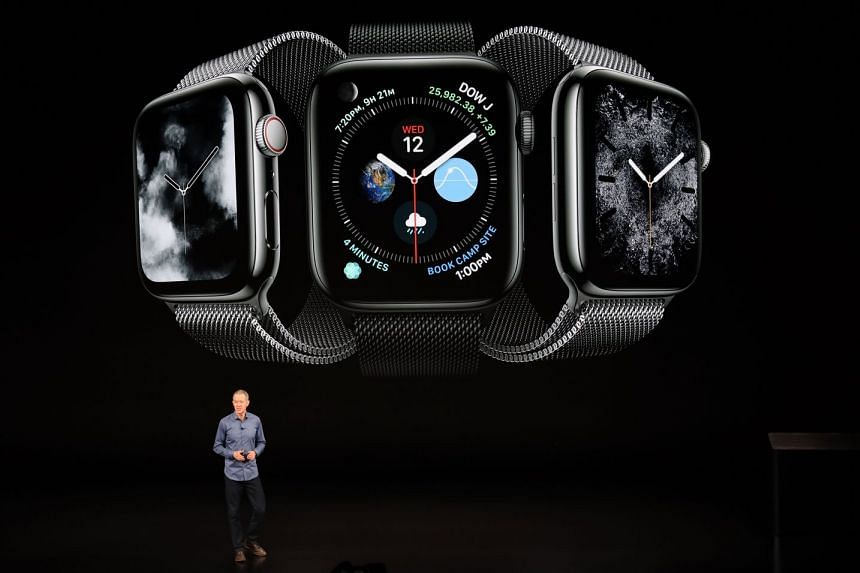 Apple's chief operating officer Jeff Williams presenting the new smartwatch Apple Watch Series during the special event held at Steve Jobs Theater in Apple Park.
