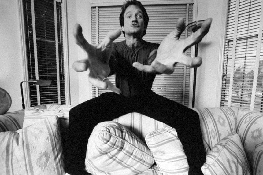 A promotional photo for the HBO documentary Robin Williams: Come Inside My Mind.