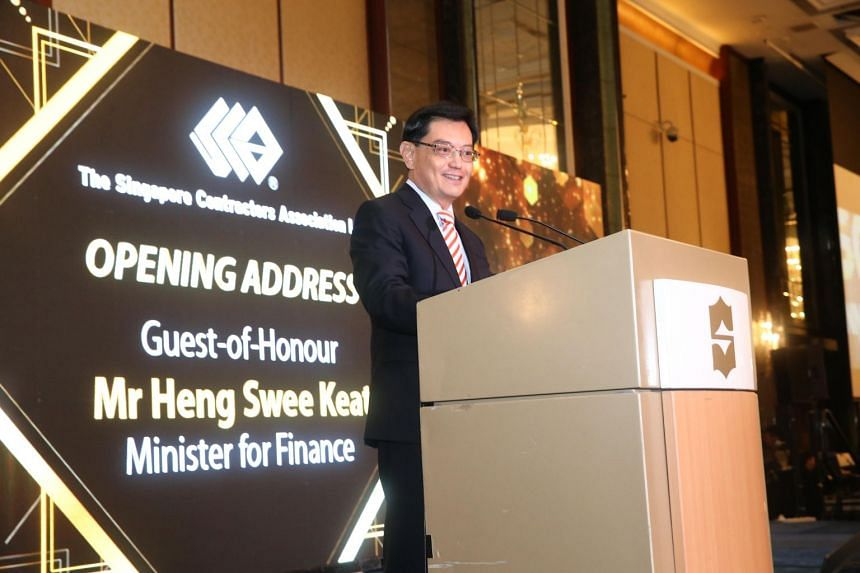Finance Minister Heng Swee Keat at the Singapore Contractors Association annual dinner.