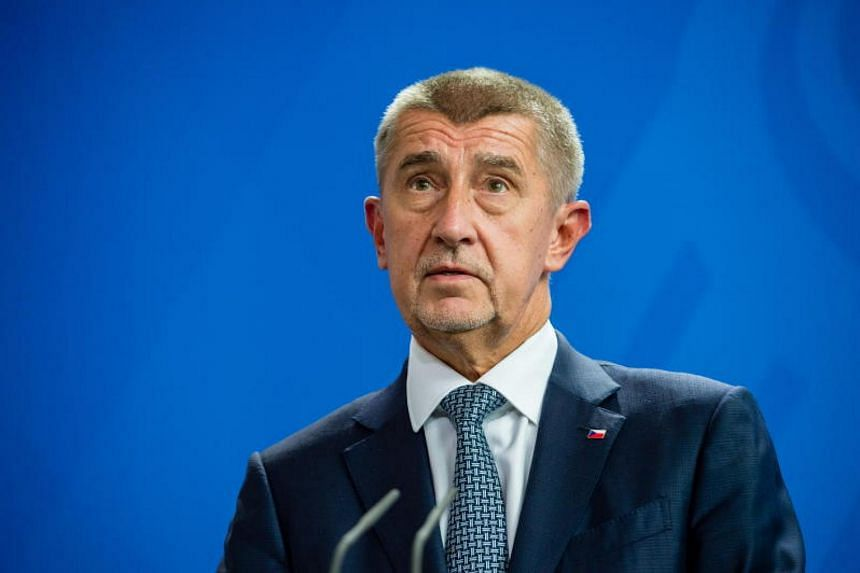 Czech anti-establishment billionaire Andrej Babis speaks at a joint news conference at the Chancellery in Berlin, Germany, on Sept 5, 2018.