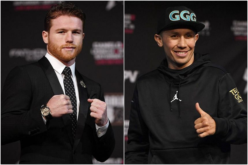 "Saul ""Canelo"" Alvarez (left) and Gennady Golovkin are set to face off in Las Vegas for a rematch on Sept 15, 2018."