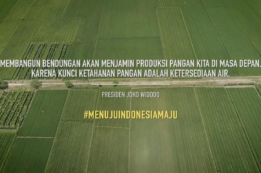 The three-minute commercial featured Indonesian President Joko Widodo's achievements, and has sparked complaints from the opposition and some moviegoers.