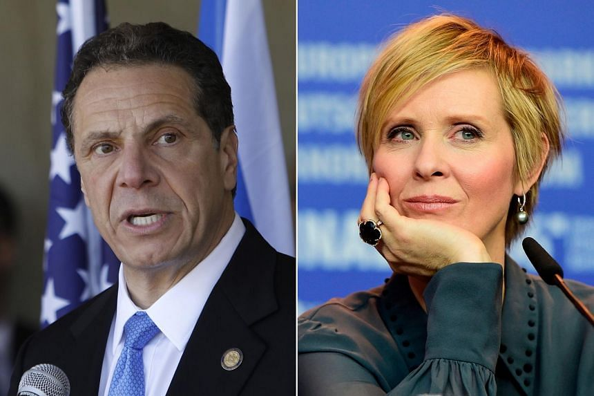Governor Andrew Cuomo (left) had marshalled the support of nearly all of the state's most powerful Democratic brokers to defeat actress and activist Cynthia Nixon.