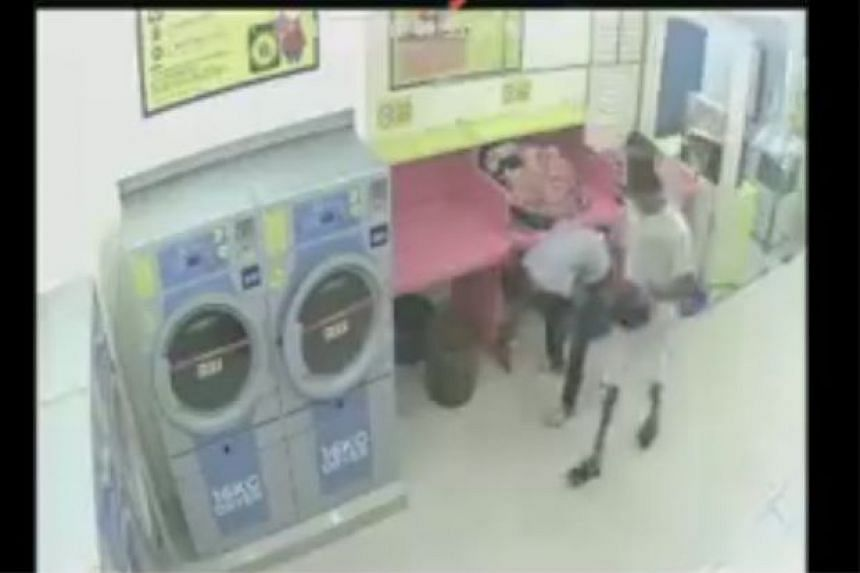 CCTV recordings showed the men putting the cat in the dryer before turning the machine on.